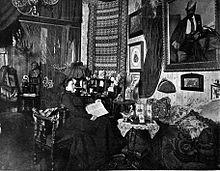 Marie Gutheil-Schoder in her study 1901