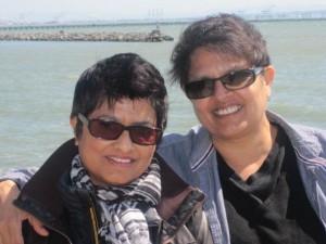 Pratibha Parmar and Shaheen Haq