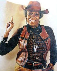 Kennedy, c. 1976 in a cowboy outfit she was noted for wearing